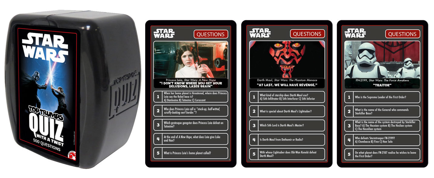 Star Wars Top Trumps: Caution! The Game Can Cause Nostalgia!