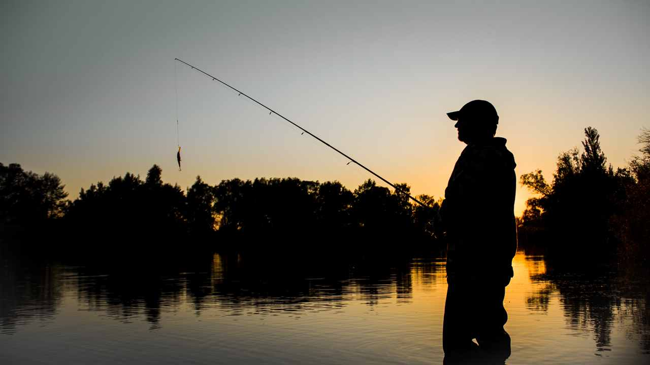 Fishing man sunset 2