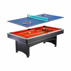 Hathaway Maverick 7 foot Pool and Table Tennis Multi Game