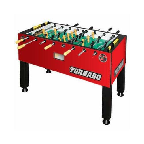 Tornado Red T 3000 3 Goalie Coin Op Foosball Table